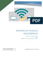 Informe de Técnicas Inalámbricas