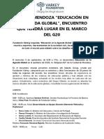 Gacetilla - Educación en La Agenda Global