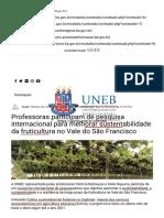 Professoras participam de pesquisa internacional para melhorar sustentabilidade da fruticultura no Vale do São Francisco – Agência UNEB de Comunicação.pdf