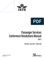 IATA Passenger Services Conference Resolutions Manual Part 1 2018