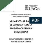 Guia Del Estudiante Unidad Academica de Medicina Uagro