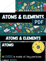 atoms and elements slide show tpt