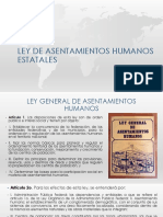 Ley de Asentamientos Humanos Estatales