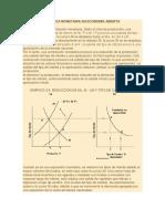 Política Monetaria Contractiva en Economía Abierta