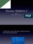 Review - Midterm 2