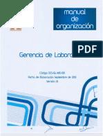 Manual de Organización de La Gerencia de Laboratorio