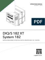 Ysi - Sensor Ysi Diqs 182 - Manual