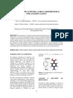 Identificación del  Acido 4 Aminobenzoico