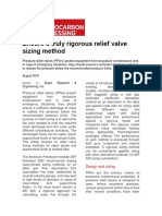 Relief Valves Sizing Methods