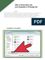 Como Compilar e Executar Um Programa Java Usando o Prompt de Comando