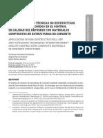 Aplicación de las técnicas No destructivas Pull-Off y ultrasonidos en el Control de Calidad del refuerzo con materiales compuestos en Estructuras de Concreto