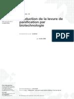 Production de La Levure de Panification Par Biotechnologie
