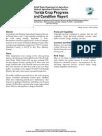 Florida Crop Progress and Condition Report