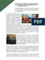 Valoración Del Rol Del Docente Bilingüe Como Facilitador
