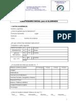 Cuestionario inicial ALUMNADO