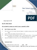 Electrical Consultation Porposal