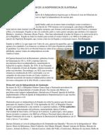 Historia de La Independecia de Guatemala