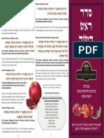 Seder Rosh Hashana ESPANHOL