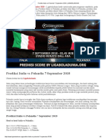 Prediksi Italia vs Polandia 7 September 2018