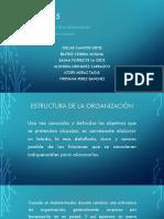 ESTRUCTURACION DE LA ORGANIZACION