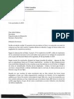 Carta a Keleher de Jesus Manuel Ortiz
