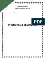 TEXT BOOK-phonetics and Semantics