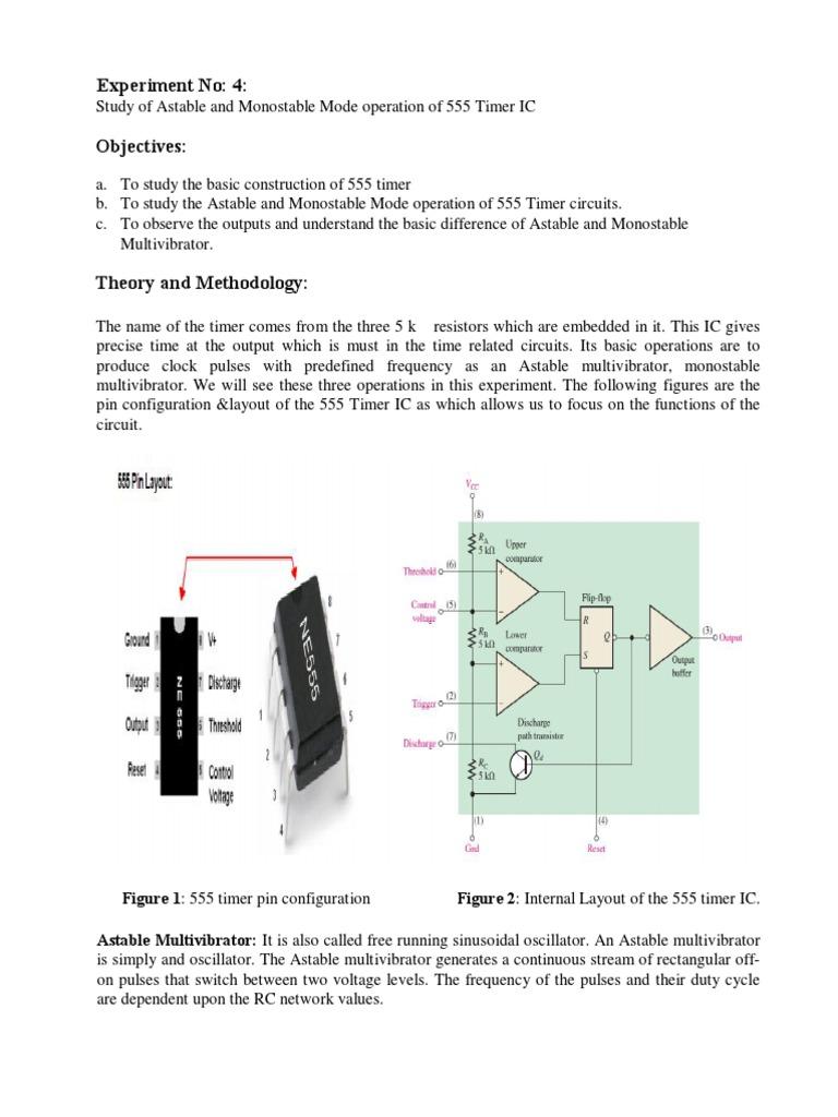 Lab 4 Electronics Electrical Engineering 555 Timer Oscillator