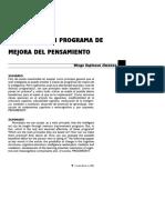 Analisis De Un Programa De Mejora Del Pensamiento. Diego Espinosa. 1998.pdf