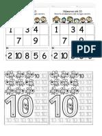 Fichas Del Numero 10 y Letra p