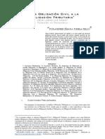 De la Obligación Civil a la Obligación Tributaria