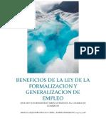 Beneficios de La Ley de La Formalisacion y Generalizacion de Empleo