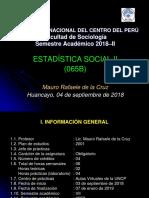 Exposicion Silabo Estadistica Social II 2018B