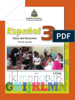 Guía del Docente de Español para 3er grado - Honduras