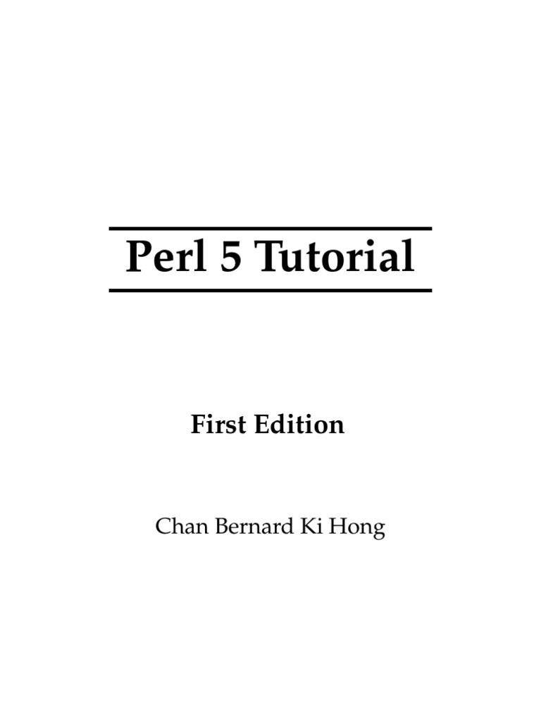 perl 5 tutorial | compiler | perl