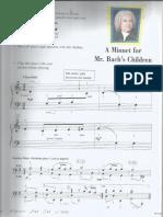 A Minuet for Mr. Bach's Children