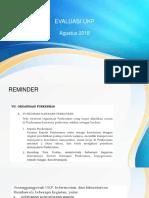 Evaluasi Ukp Agustus 2018