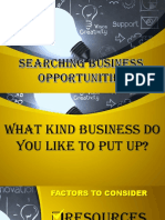 Search For Business Opportunities