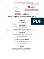 Kertas Kerja Pesta Tanglung 1 Malaysia