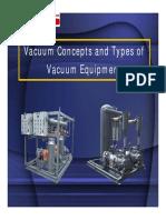 Vacuum Concepts and Types of Vacuum Equipment