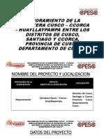 Mejoramiento de La Carretera Cusco – Ccorca