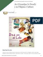 Ded Na Si Lolo (Grandpa is Dead)_ Superstitions in Filipino Culture _ ReelRundown