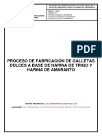 Estandarizado - Proceso de Elaboración de Galletas de Trigo y Amaranto