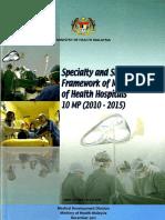 Hospital Specialty Subspecialty 2010 15