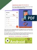 Tutorial Mengubah Resolusi Android | SitusAlternatif.com
