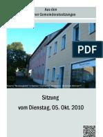 Eslarner Gemeinderatssitzungen 10.2010