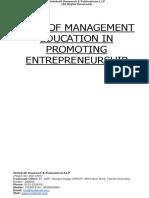Role of Management Education in Promoting Entrepreneurship [www.writekraft.com]