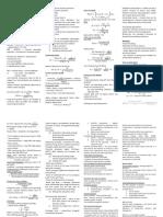 FINM3005 Cheat Sheet