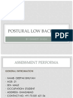 Postural Low Back Pain by Dr. Ishmeet Singh (PT)