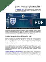 Prediksi Inggris vs Swiss 12 September 2011
