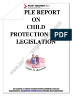 Report of Child Protection and Legislation